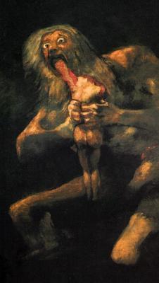 Saturno devorando a su hijo (1819-1823).